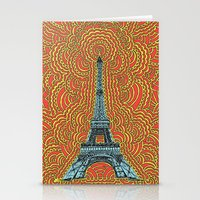 Eiffel Tower Drawing Med… Stationery Cards