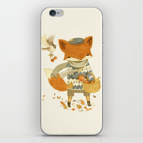 Fritz the Fruit-Foraging Fox iPhone & iPod Skin