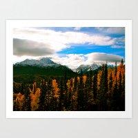 Alaska Autumn Adventures   Art Print