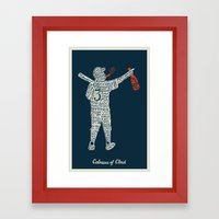 Colossus of Clout Framed Art Print