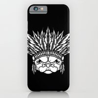 iPhone & iPod Case featuring Tribal Pug by dominantdinosaur