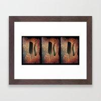 Six Feathers Framed Art Print