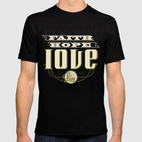 The Greatest of These Is Love Mens Fitted Tee Black SMALL