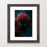 Spider-Man painting Framed Art Print