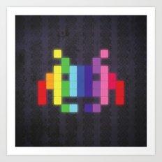 Face The Rainbow Art Print