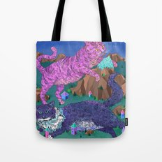 Mountain Cats Tote Bag