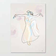 One Line Metropolis : Maria's dance Canvas Print