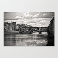 The Ponte Vecchio In Flo… Canvas Print