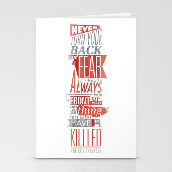 Fear Stationery Card