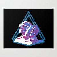 Daft Punk: Daft Deco Canvas Print