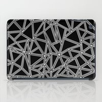 Abstract New White On Bl… iPad Case