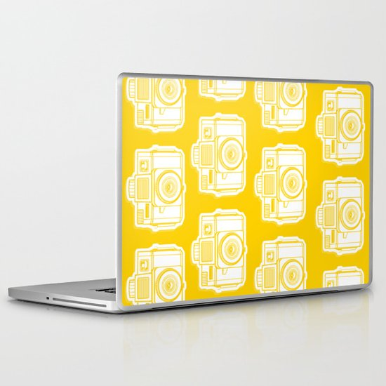 I Still Shoot Film Holga Logo - Reversed Yellow Laptop & iPad Skin
