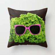 Mr Salad Throw Pillow