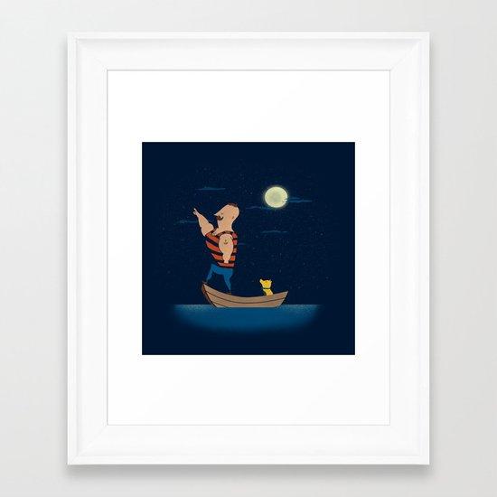 Forever Forward (Night) Framed Art Print