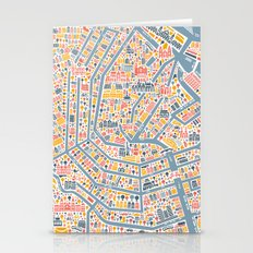 Amsterdam City Map Poste… Stationery Cards