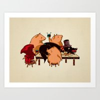 Art Print featuring Dinner With Friends by Boots