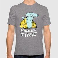 Hammer Time Mens Fitted Tee Tri-Grey SMALL