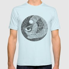 un œil andalou Mens Fitted Tee Light Blue SMALL