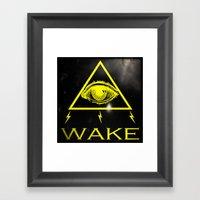 WAKE - TRI Framed Art Print