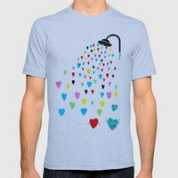 Love Shower Mens Fitted Tee Athletic Blue SMALL