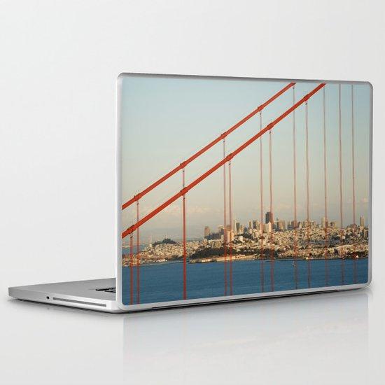 Golden San Gate Francisco Bridge Laptop & iPad Skin