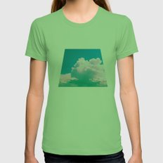 Cloudscape V Womens Fitted Tee Grass SMALL