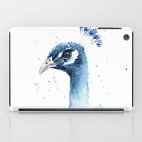Peacock Watercolor Painting iPad Case