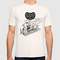 Steam Powered Bicycle Mens Fitted Tee Natural SMALL
