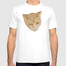 Totem Kitteh 2 White Mens Fitted Tee SMALL