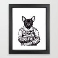 Astro Frog Framed Art Print