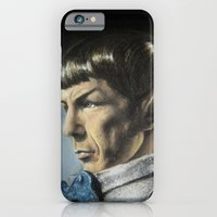 iPhone & iPod Case featuring Spock - The Pain of Loss (Star Trek TOS) by Liz Molnar