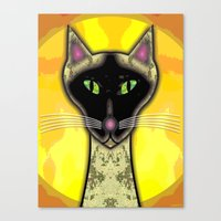 SIAMESE SOLEIL Canvas Print