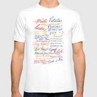 Grandmother's Shopping List Mens Fitted Tee White SMALL