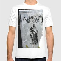 A Good Message Mens Fitted Tee White SMALL