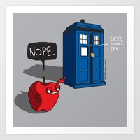An Apple a Day Keeps the Doctor Away Art Print