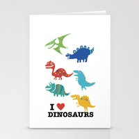 I love dinosaurs Stationery Cards