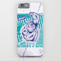 iPhone & iPod Case featuring Mayhem Ape (Teal on Gun Metal) by Beast Syndicate