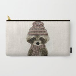 Carry-All Pouch - little indy raccoon - bri.buckley