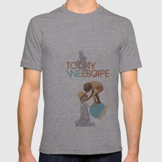 TODAY WE ESCAPE Mens Fitted Tee Athletic Grey SMALL