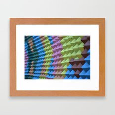 Pyramid Spikes Framed Art Print