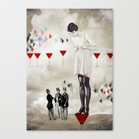 Women thoughts Canvas Print