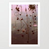 Lotus Symbols Art Print