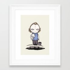 PUT THE PLUSHING LOTION … Framed Art Print