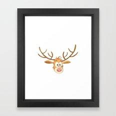 Reindeer Noel Painting Framed Art Print