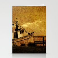 Old Shrimp Boat In Apala… Stationery Cards
