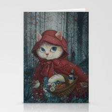 Little Red Riding Hood (Cat Edition) Stationery Cards