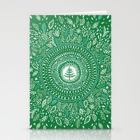 Christmas Tree Mandala Stationery Cards