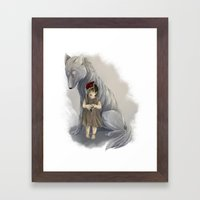 Neither Human Nor Wolf Framed Art Print