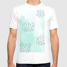 DASH DASH Mens Fitted Tee SMALL White