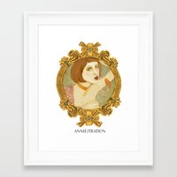 Smoked Fish (Anniestration Logo) Framed Art Print